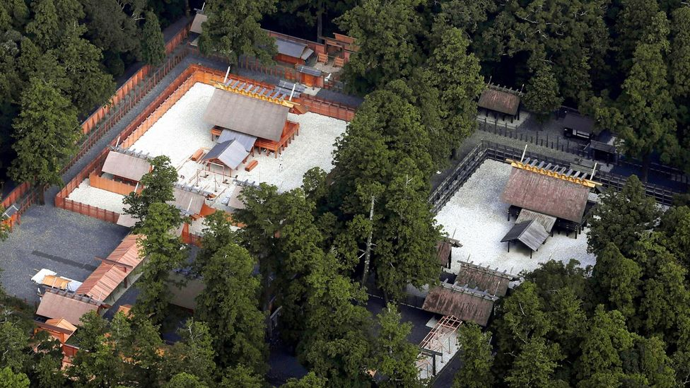 The Ise Grand Shrine in Japan where the buildings are rebuilt every two decades (Credit: Alamy)