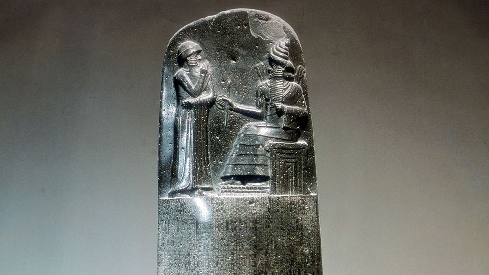 A stone carving inscribed with the laws of Hammurabi (Credit: Getty Images)