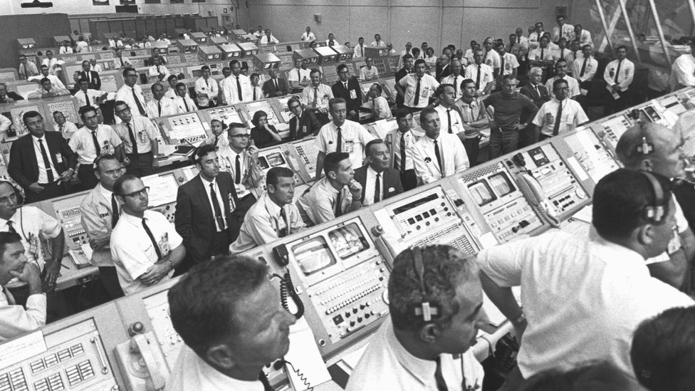 Can you spot JoAnn Morgan in this picture of Launch Control (you can increase the size of the image) (Credit: Nasa)