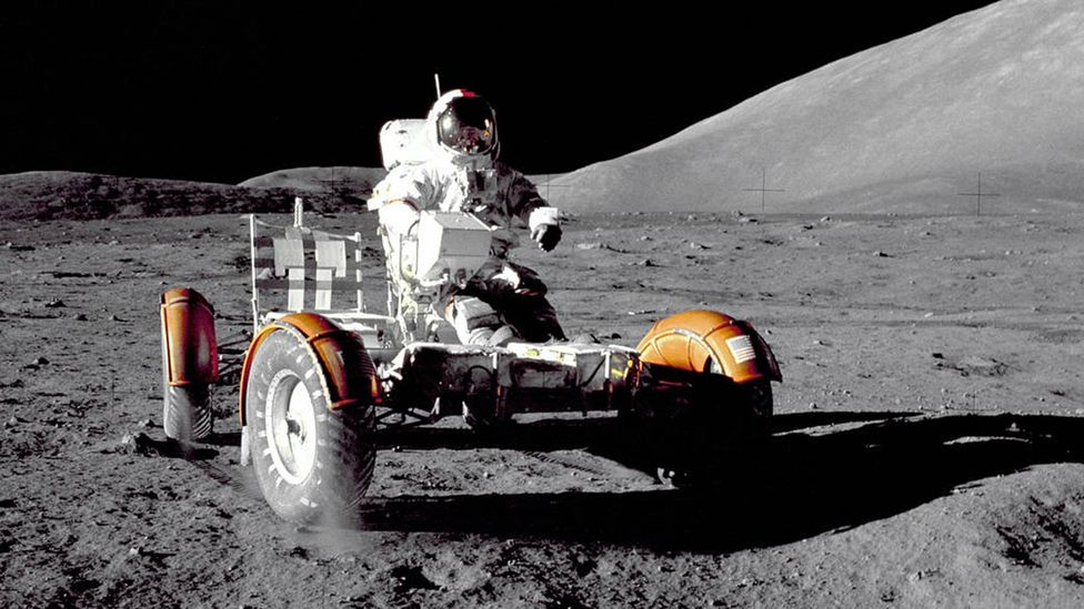 Only 12 humans have walked - or driven - on the lunar surface (Credit: Nasa)