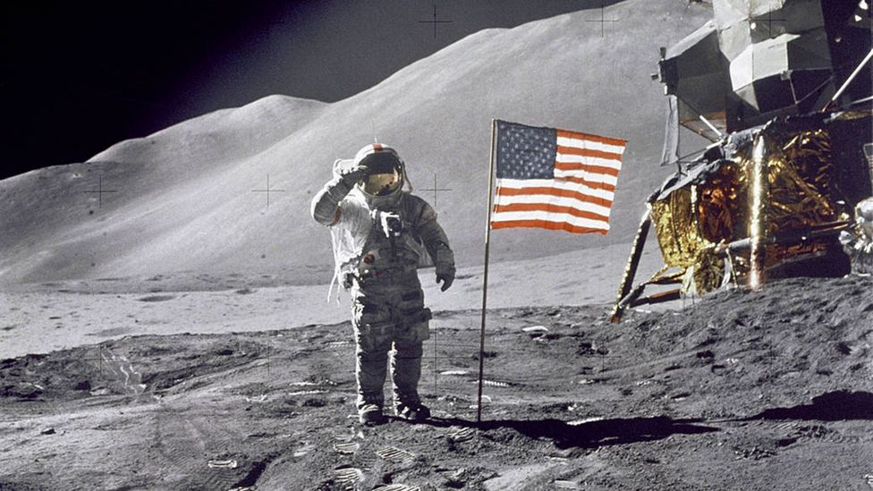 Hundreds of thousands of people worked in order that a handful of astronauts could walk on the lunar surface (Credit: Nasa)