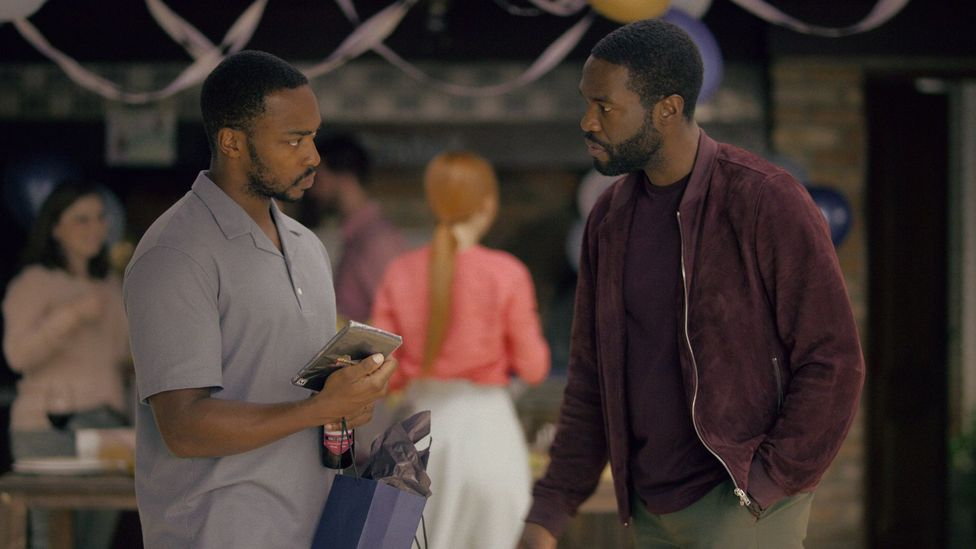 New Black Mirror episode Striking Vipers tells the story of two apparently heterosexual men who find themselves having a virtual affair (Credit: Netflix)
