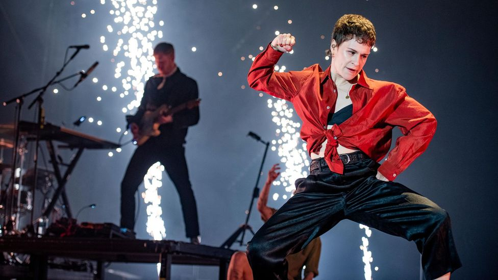 Best known as Christine and the Queens, pop star Héloïse Letissier is one of a number of stars who have identified themselves as pansexual (Credit: Alamy)