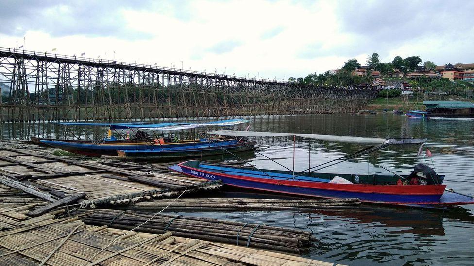 The Mon Bridge in Sangkhlaburi, Thailand