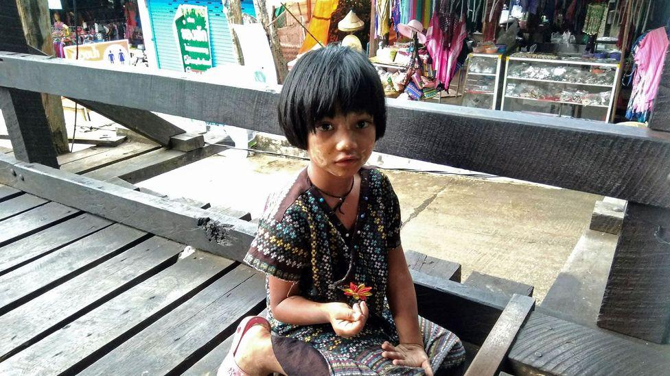 A Mon girl in Sangkhlaburi, Thailand