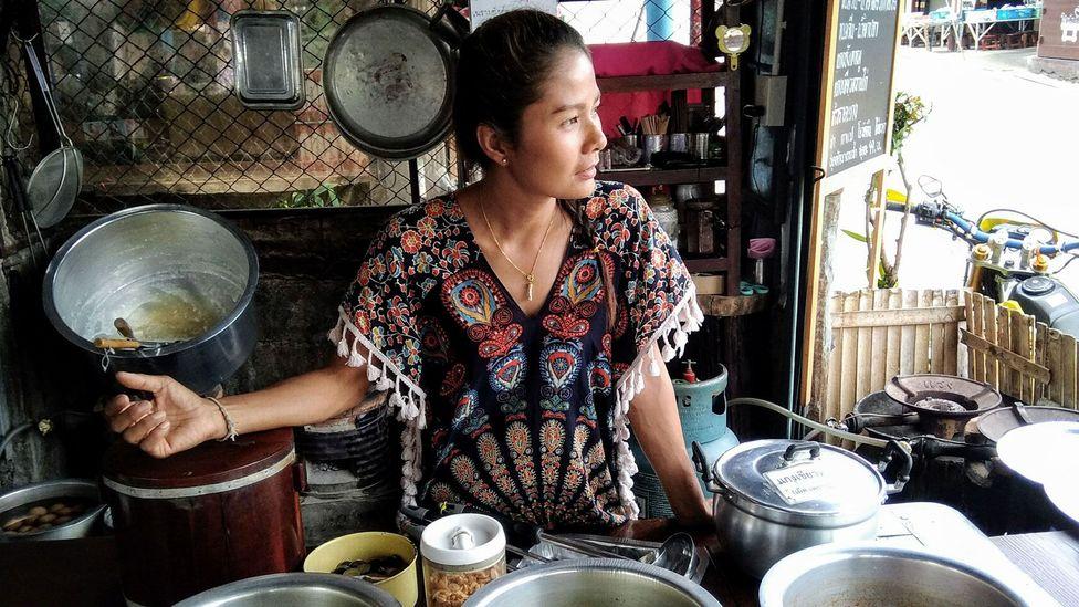 Luk Wah, a resident of Sanghlaburi, Thailand