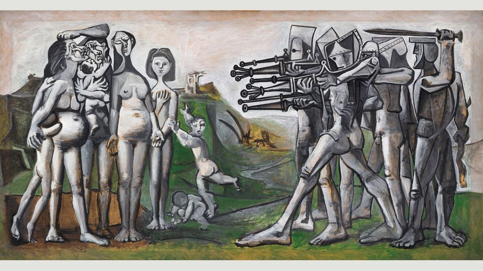 Picasso's response to allegations of America's involvement in the Sinchon Massacre in Korea in 1951 was derided at the time he painted it as too simplistic in its storytelling