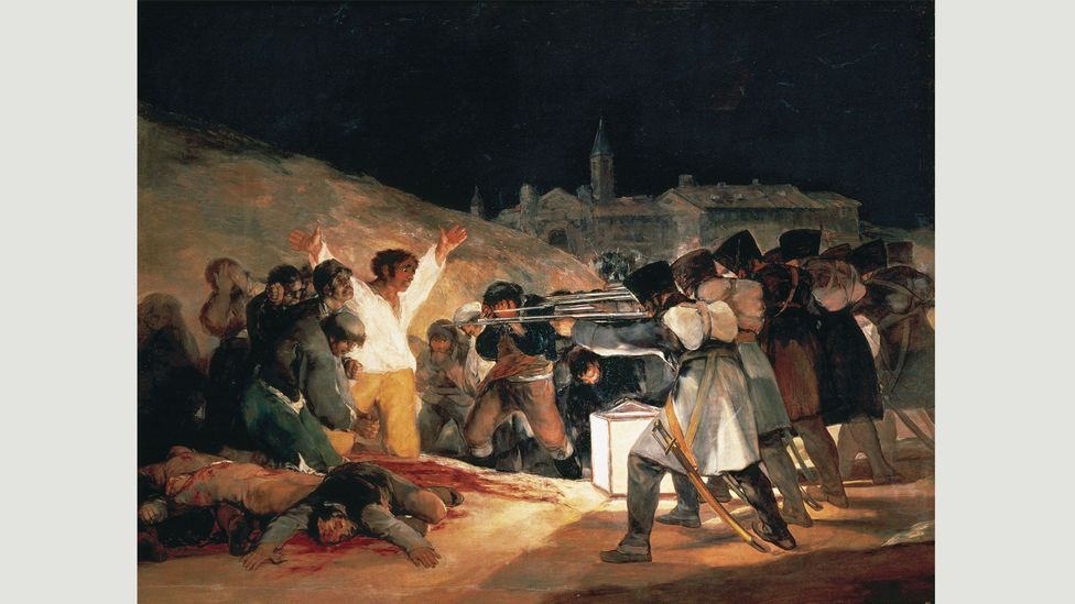 Picasso's Massacre in Korea echoed the composition of Francisco de Goya's painting The Third of May 1808 (1814)