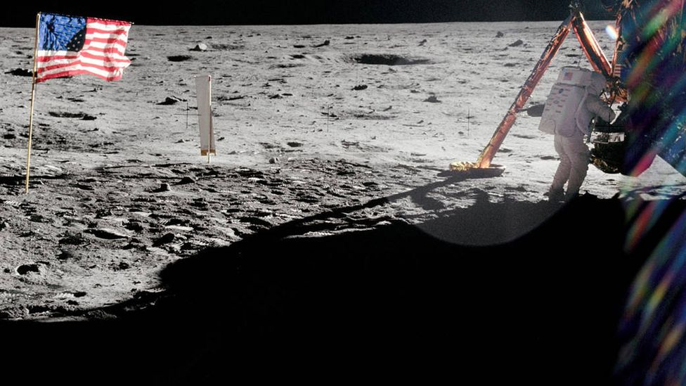 Normally Neil Armstrong's heart barely moved above 70 beats per minute – but on his descent to the Moon it was a different story (Credit: Nasa)