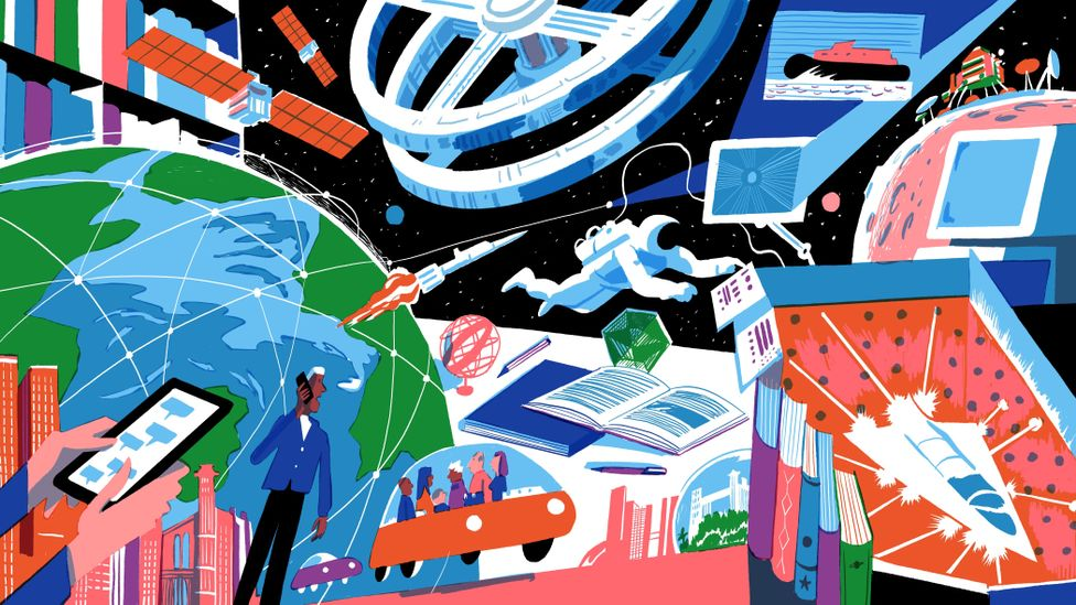 Arthur C Clarke illustration (Credit: João Fazenda)