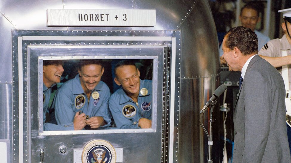 From Apollo 11, some of the Moon mission astronauts had to spend a week in quarantine upon their return to Earth (Credit: Nasa/Getty Images)