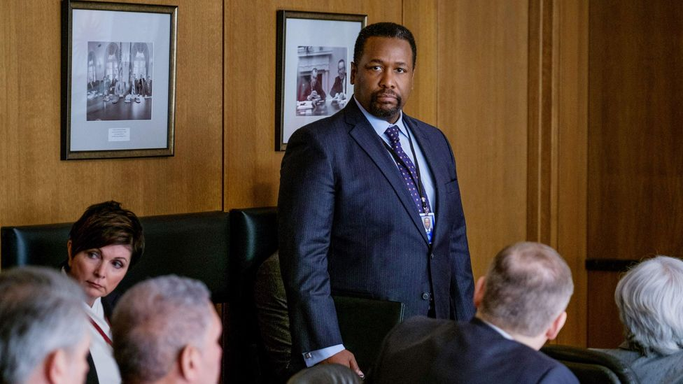 Amazon's Tom Clancy adaptation Jack Ryan has recast Ryan's boss, CIA director James Greer (played by Wendell Pierce, right) as an African-American convert to Islam (Credit: Alamy)