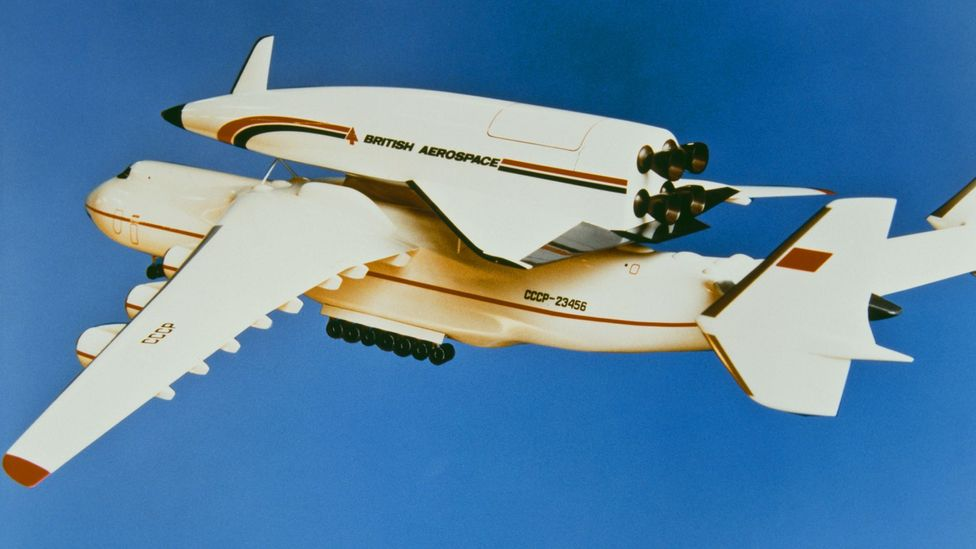 A model of the doomed Hotol project, which envisioned a plane that could fly from England to Australia in 48 minutes (Credit: Getty)