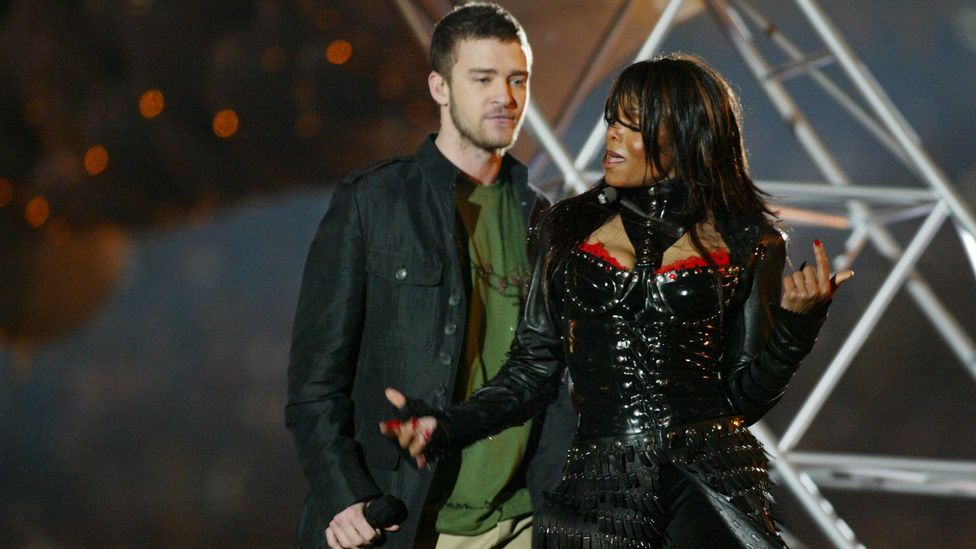 Jackson's 'wardrobe malfunction' during her Super Bowl Halftime show in 2004 with Justin Timberlake damaged her career for many years afterwards (Credit: Getty Images)