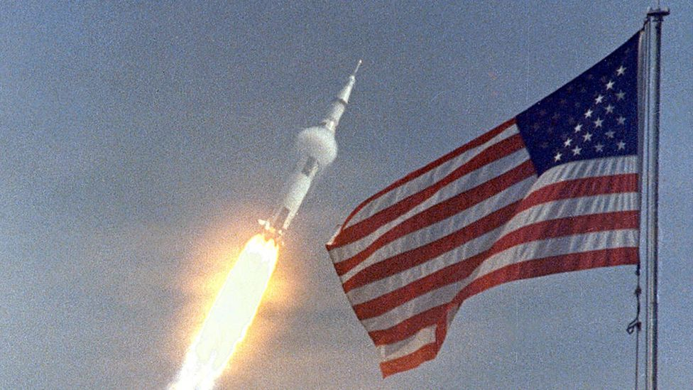 The Saturn V team had to redesign the rocket to ensure it didn't create forces strong enough to kill the crew (Credit: Nasa)