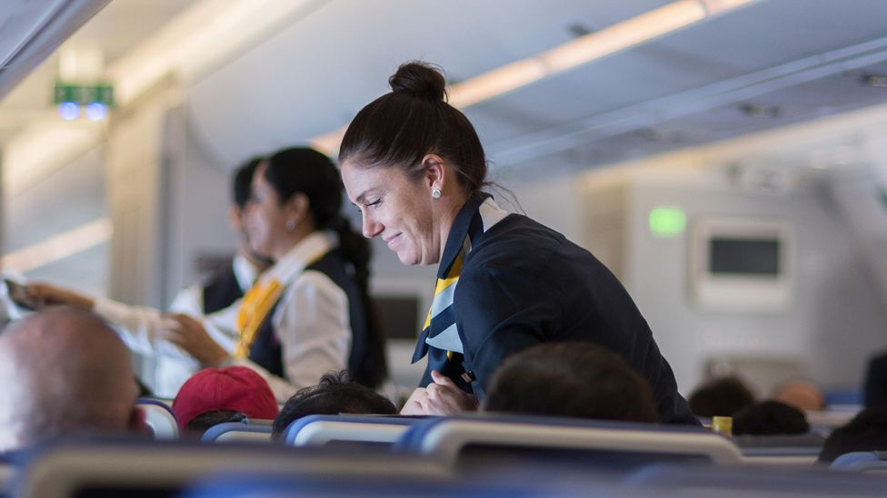 Think about it: would you really want a flight attendant to tell you that you should be worrying about turbulence? (Credit: Alamy Stock Photo)
