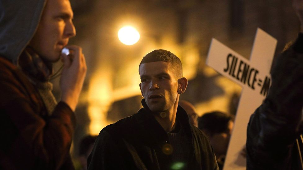 Robin Campillo's 2017 film 120 Beats Per Minute looks at the early years of the Aids activist group Act Up Paris (Credit: Alamy)