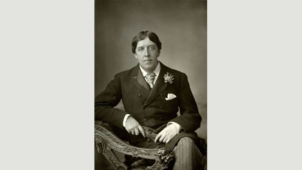 Followers of the gay Irish playwright Oscar Wilde (pictured) wore carnations in their lapels (Credit: Alamy)