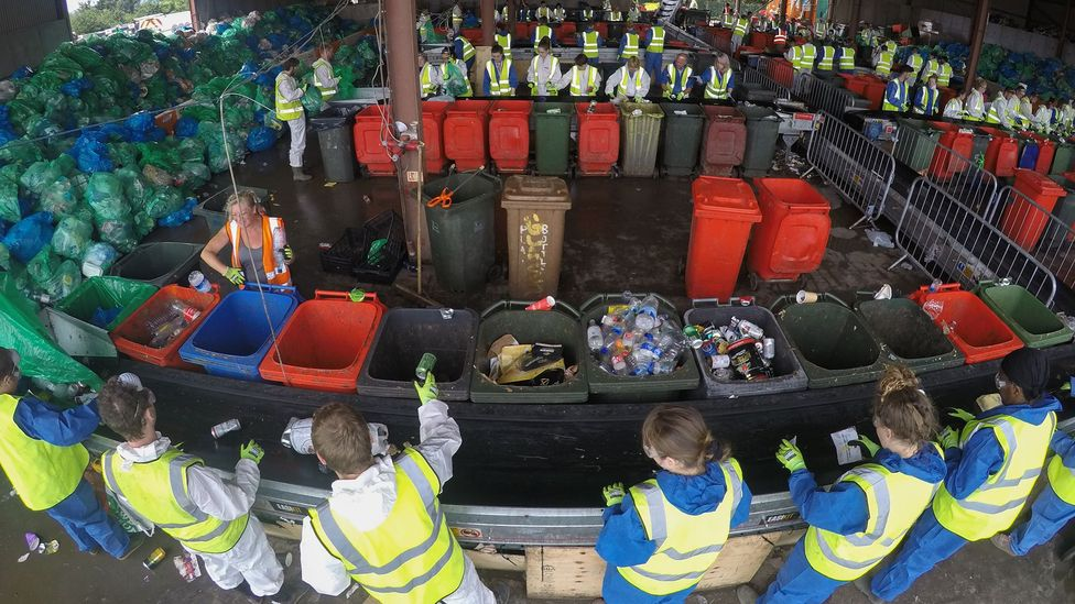 Music festivals in the UK generate some 23,500 tonnes of waste every year - a mountain for volunteers to try and sort through (Credit: Getty Images)
