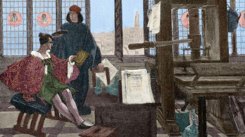 Humanist and scholar Aldus Manutius revolutionised the printing industry by printing in 'aldino', or italic, type  (Credit: PRISMA ARCHIVO/Alamy)