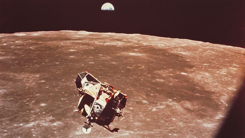 The lunar lander was a brilliant piece of engineering - but it had few creature comforts for its two-man crew (Credit: Nasa)