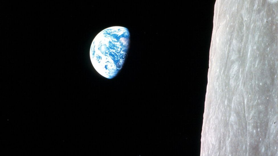 The crew had three and a half mostly uneventful days on the journey between the Earth and the Moon (Credit: Nasa)