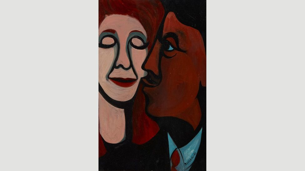 A Man Kissing His Wife by Faith Ringgold, 1964 (Credit: 2018 Faith Ringgold/Artists Rights Society (ARS), New York, Courtesy Pippy Houldsworth Gallery, London)