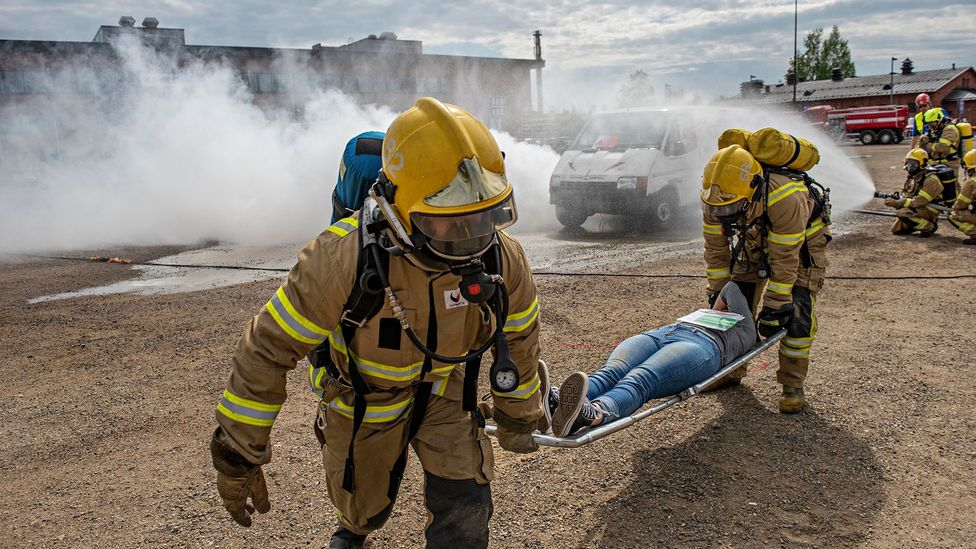 Knowing what kind of chemical agent they are facing can help the emergency services protect themselves while they rescue casualties (Credit: Andy Weekes/Loughborough University)