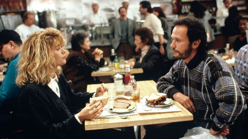 Everything is removed from the film except Harry and Sally's attitudes towards love, sex, friendship and each other (Credit: Alamy)