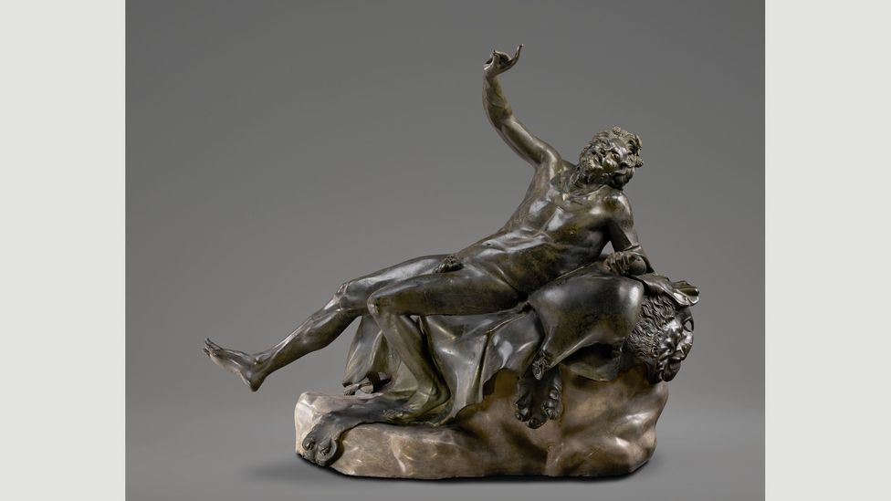Piso's home was rich in artworks – including a sculpture of a Drunken Satyr and a representation of the god Pan having sex with a goat (Credit: Getty Museum)