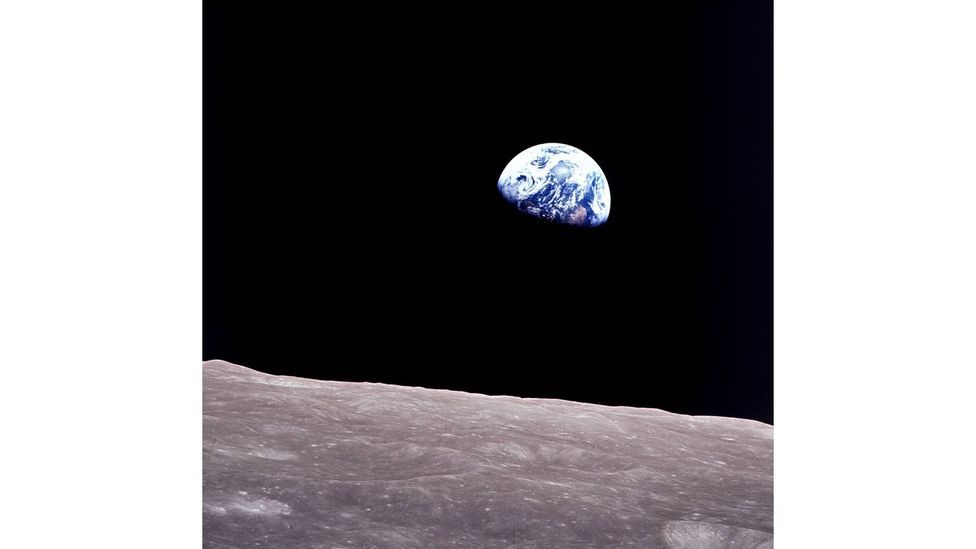 Apollo 8's crew saw the Earth as no human had ever seen it before - and the Earthrise image has become a classic of photography (Credit: Nasa)
