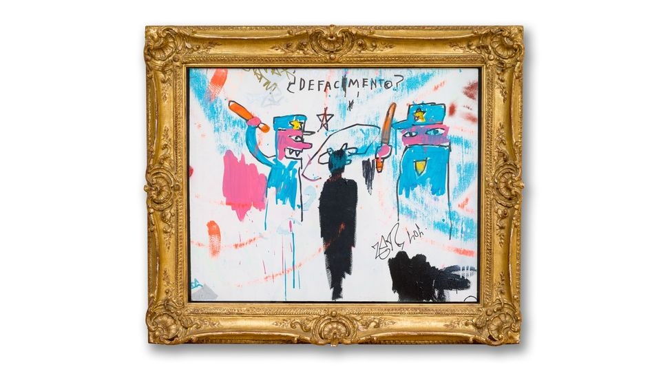 Defacement (The Death of Michael Stewart) (1983) by Jean-Michel Basquiat (Credit: Estate of Jean-Michel Basquiat/ Allison Chipak/ Solomon R. Guggenheim Foundation, 2018)