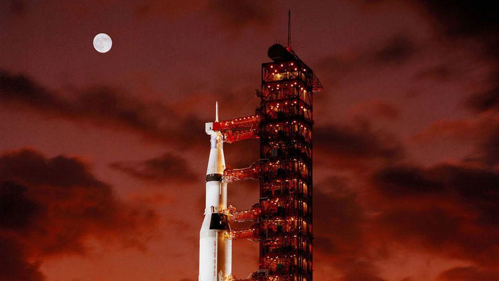 Apollo 4 on launchpad (Credit: Nasa)