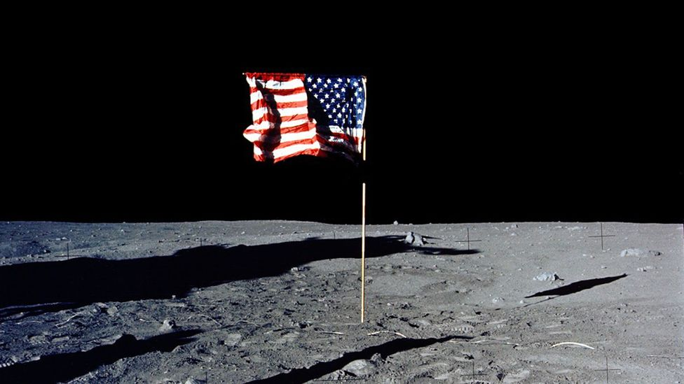 US flag on Moon (Credit: Nasa/Getty Images)