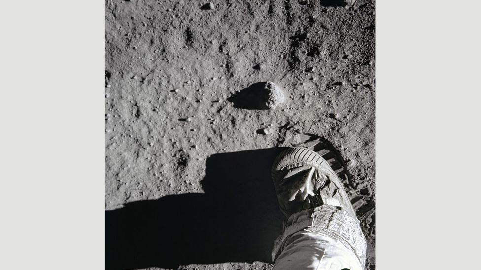 20 July, 1969: Aldrin's boot leaves a sharp imprint in the lunar soil