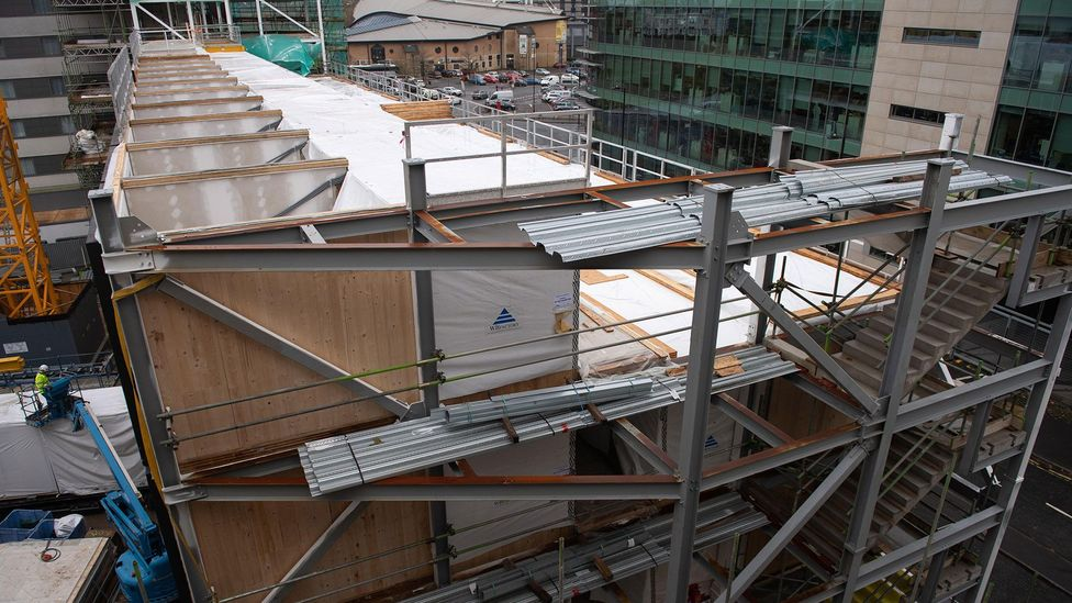 Structures made from CLT are much quicker to construct than concrete buildings (Credit: Alamy)