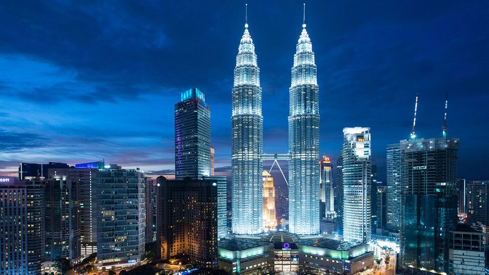 The Petronas Towers in Kuala Lumpur owe some of their lighting control systems to Hypercard (Credit: Getty Images)