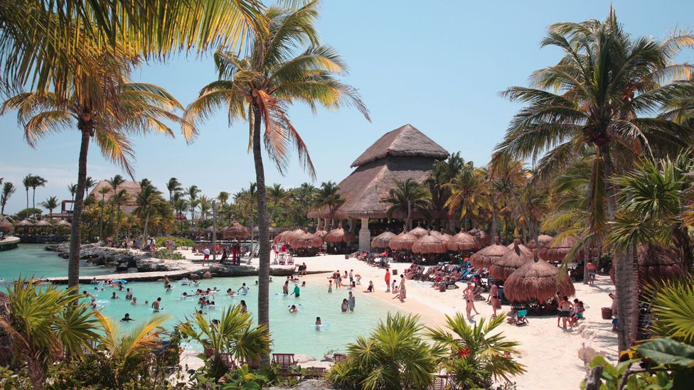 The ecological resort Xcaret has instituted a policy whereby visitors must swap their sunscreen for one which is more biodegradable (Credit: Getty Images)
