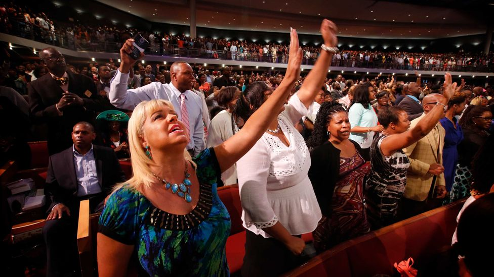 US megachurches bring in thousands of worshippers (Credit: Getty Images)