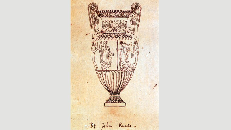 Tracing of an engraving of the Sosibios vase by Keats: it was said to have partially inspired his poem Ode on a Grecian Urn (Credit: Alamy)