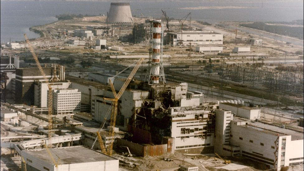 The explosion that exposed the core in reactor number four at Chernobyl happened during a safety test and spread highly reactive material (Credit: Getty Images)