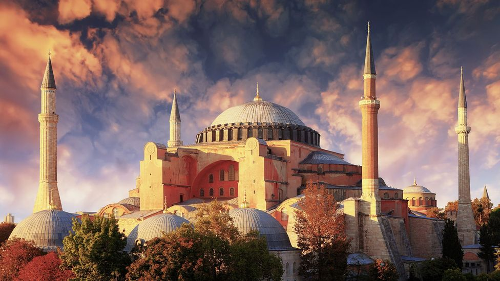 The Hagia Sophia in Istanbul, Turkey, alters the sound produced inside its walls so profoundly that it is capable of 'conjuring up the divine' (Credit: Getty Images)