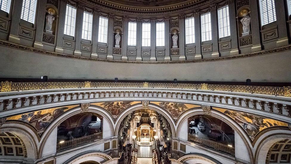 Even quiet sounds can be carried long distances in an indoor space like the whispering gallery at St Paul's Cathedral (Credit: Alamy)