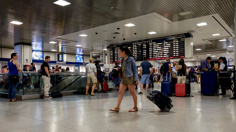 Penn Station in New York would not win any prizes for beauty but it is also acoustically quite an ugly space as well (Credit: Alamy)