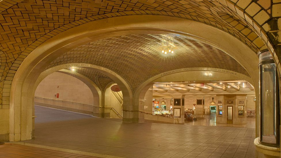 Whisper into one of the corners in the whispering gallery under Grand Central Station in New York and the domes will carry voices to the other side of the room (Credit: Alamy)