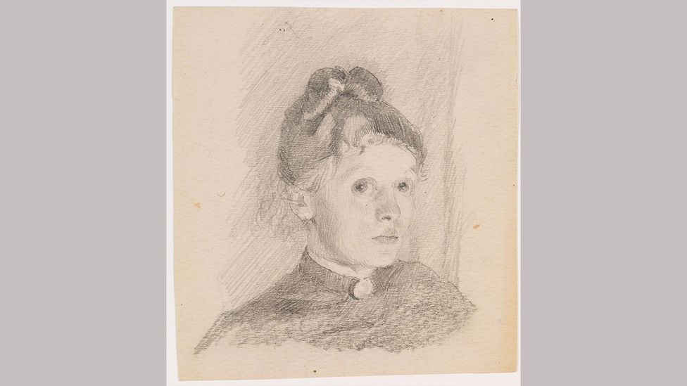Helene Schjerfbeck, Self-portrait, 1880-84. This self-portrait was created by Schjerfbeck in her late teens or early 20s