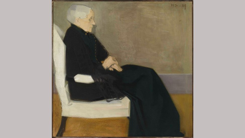 Helene Schjerfbeck, My Mother, 1909. Schjerfbeck's portraits were all painted with a soft, muted, and very Nordic palette