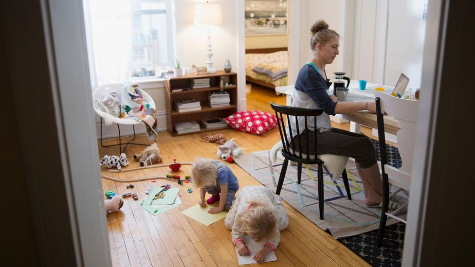 Women take on a vastly disproportionate amount of housework and childcare – demands that can take a part-time job to manage, experts say (Credit: Alamy)