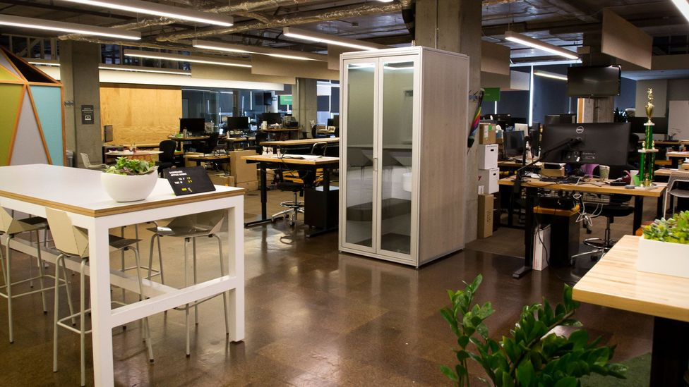 Millennials are set to inherit the problems of open offices that generations before them built – and one of their solutions is adding phone booths (Credit: Cubicall)