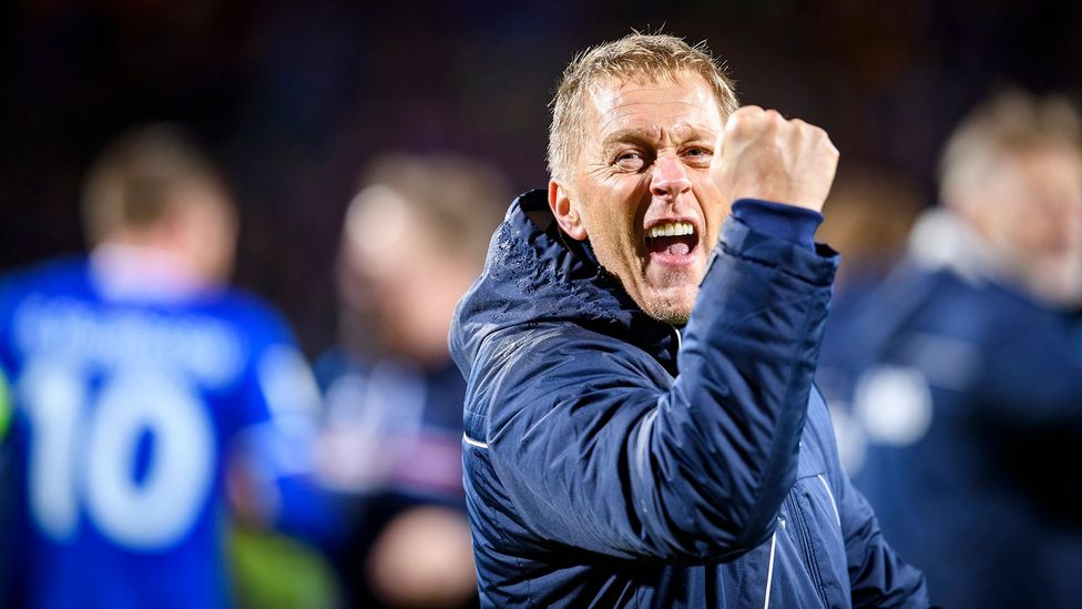 Heimir Hallgrímsson was one of the 2016 Iceland team's coaches – and still worked part-time as a dentist (Credit: Getty Images)